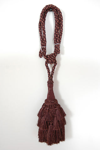 Ellora Tassels (1 pair) - Chocolate Tapestry  Decorative Tassels