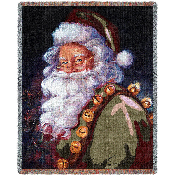 St. Nick Tapestry Throw