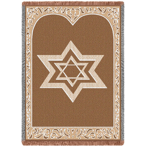 Star Of David Tapestry Throw