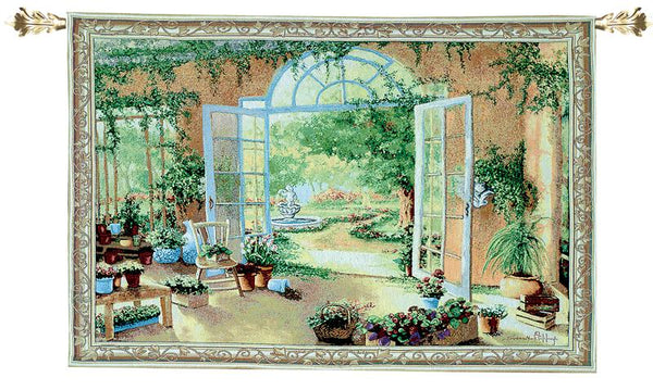 French Doors Tapestry Wall Hanging