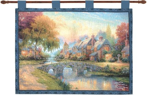 Cobblestone Bridge Fine Art Tapestry