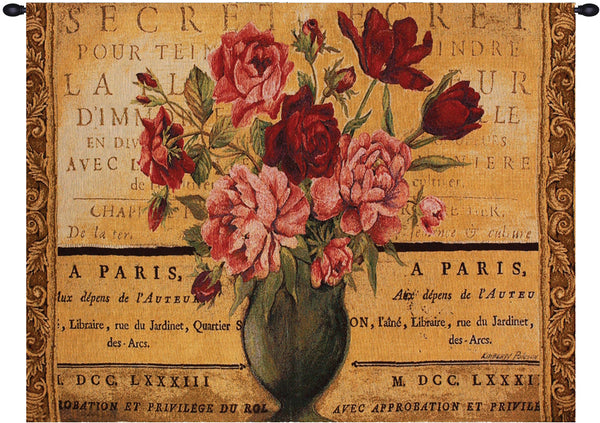 Paris Rose Tapestry Wall Hanging