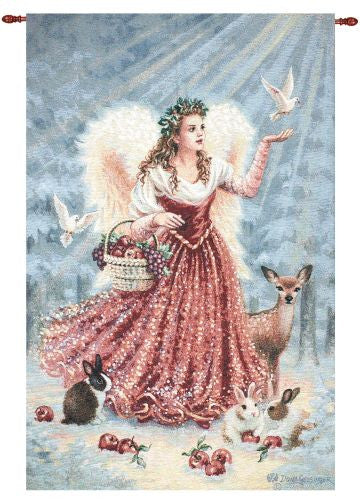 The Christmas Angel Fine Art Tapestry