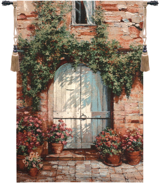 Wooden Doorway Tapestry Wall Hanging