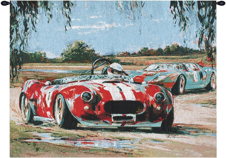 Racing In The USA Fine Art Tapestry