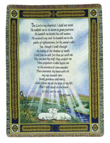 Psalm 23 Tapestry Throw