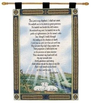 23rd Psalm Fine Art Tapestry