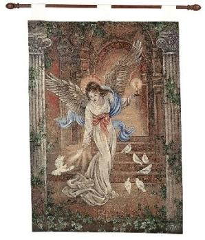 Angel of Light Fine Art Tapestry