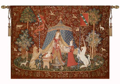The Lady and the Unicorn  Tapestry Wall Hanging