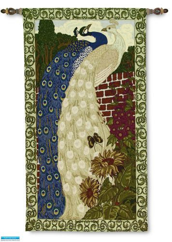 Peacocks Nouveaux Tapestry Wall Hanging