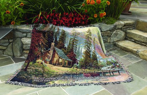 Peaceful Retreat w/Verse Tapestry Throw