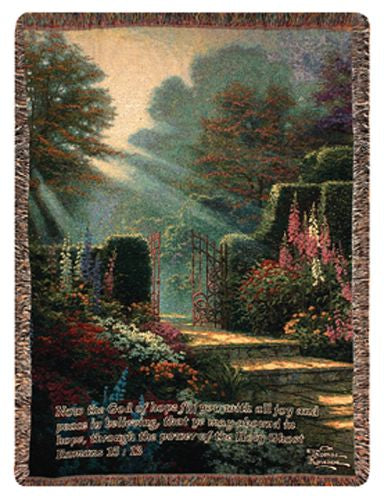 Garden of Grace w/Verse Tapestry Throw