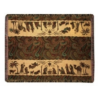 Away in a Manger Tapestry Throw
