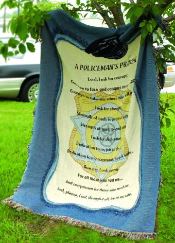 Policemans Prayer Tapestry Throw