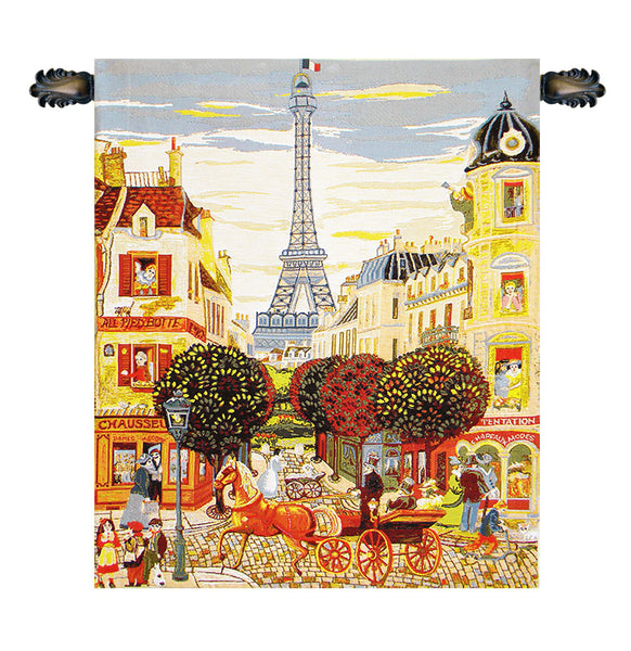 Eiffel Naif European Wallhanging