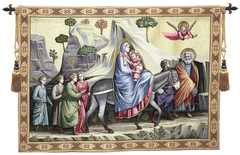 Flight into Egypt Italian Tapestry Wallhanging