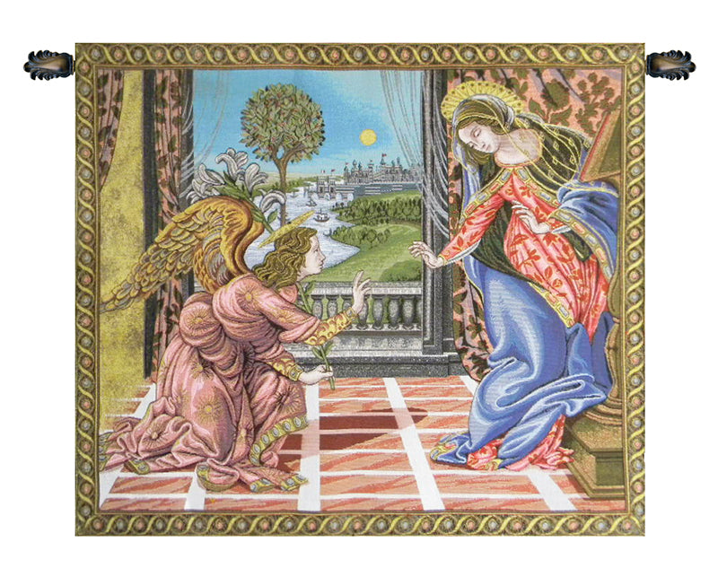 Annunciation Botticelli Italian Tapestry Wallhanging