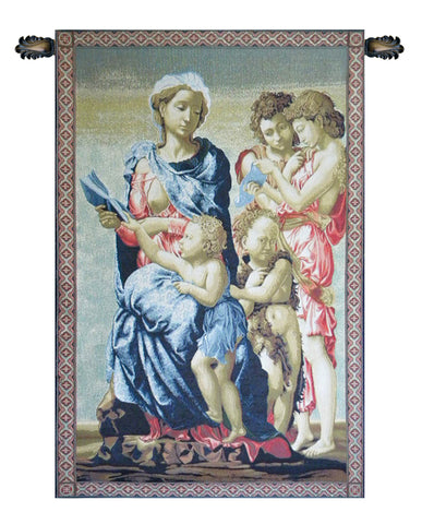 Madonna from Manchester Italian Tapestry Wallhanging