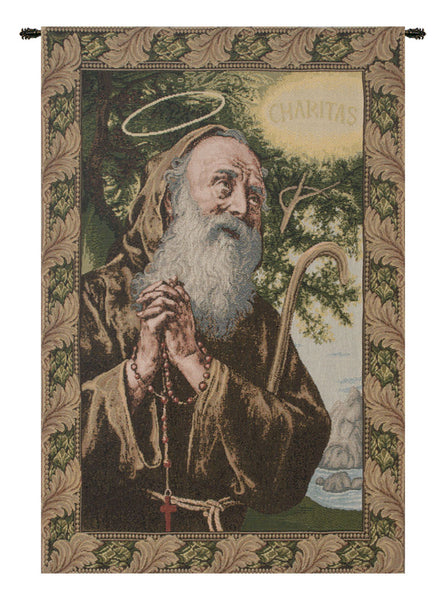 St. Frances from Paola Italian Tapestry Wallhanging
