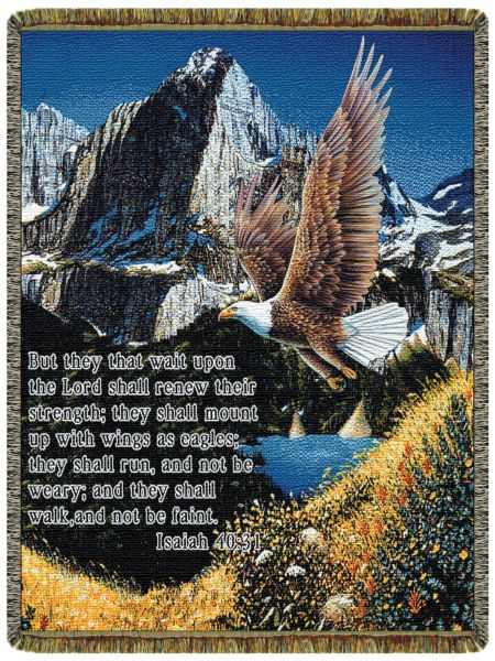 Eagle Isaiah 40:31  Tapestry Throw