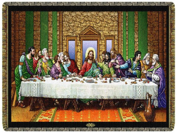 The Last Supper  Tapestry Throw