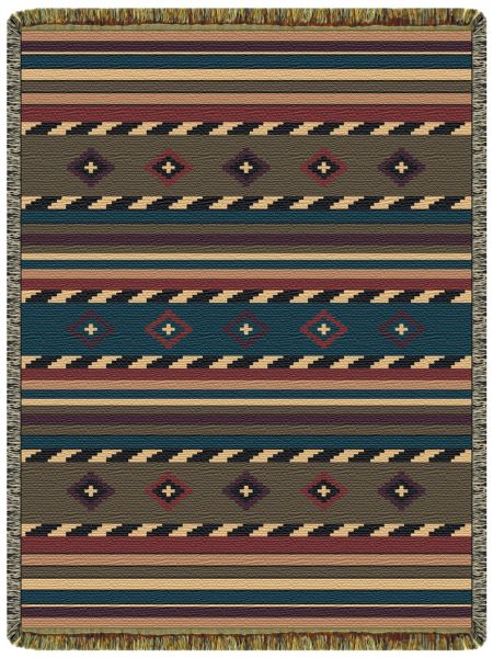 Cherokee Trail  Tapestry Throw