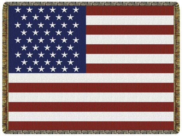 US Flag  Tapestry Throw