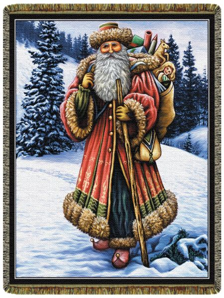 Christmas Santa  Tapestry Throw