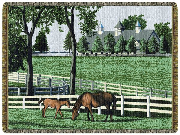 Kentucky Dreamin  Tapestry Throw