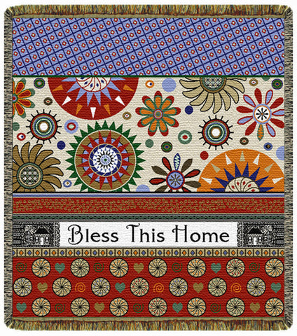 Bless This Home  Tapestry Throw