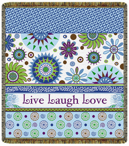 Live  Laugh  Love  Tapestry Throw