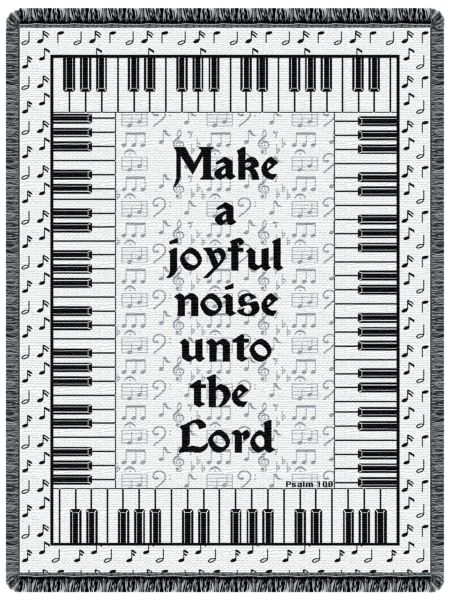 Music Psalm 100  Tapestry Throw