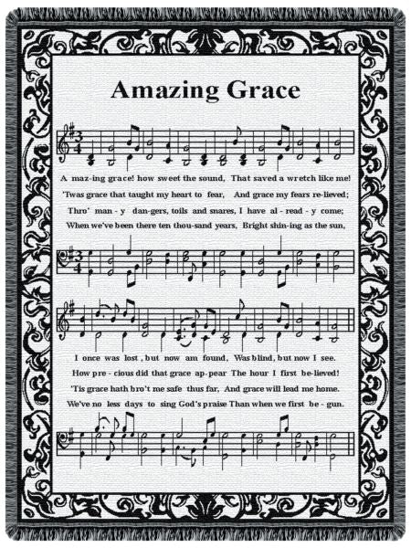 Amazing Grace Music Tapestry Throw