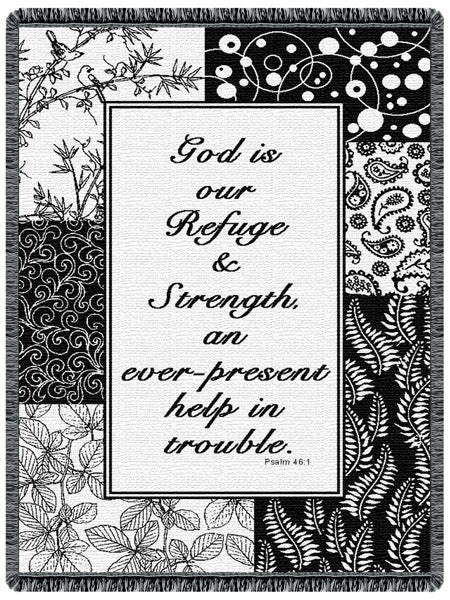 God is Our Refuge Tapestry Throw