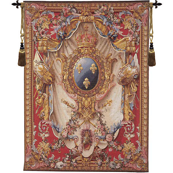 Grandes Armoiries Red French Tapestry