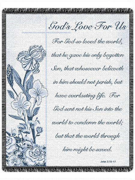 God's Love For Us  Tapestry Throw