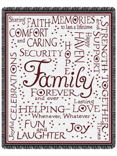 Family Collage  Tapestry Throw