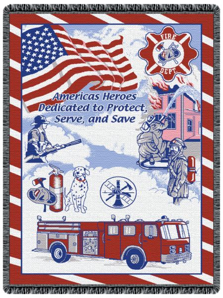 Fire Department Tapestry Throw