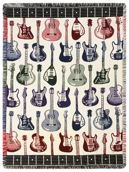 Strummin  Tapestry Throw