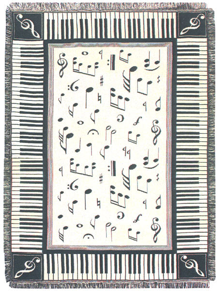 Melody 2 Layer Tapestry Throw