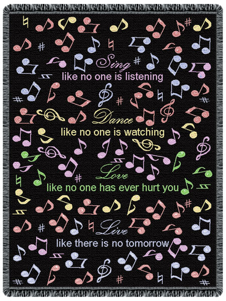 Sing Dance Love Tapestry Throw