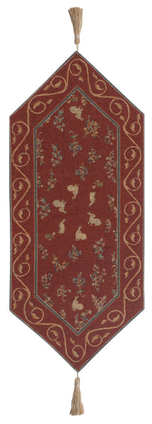 Medieval Rabbit II French Tapestry Table Runner