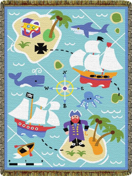 Pirates  Tapestry Throw