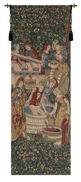 Vendage Portiere, Left Side Belgian Tapestry