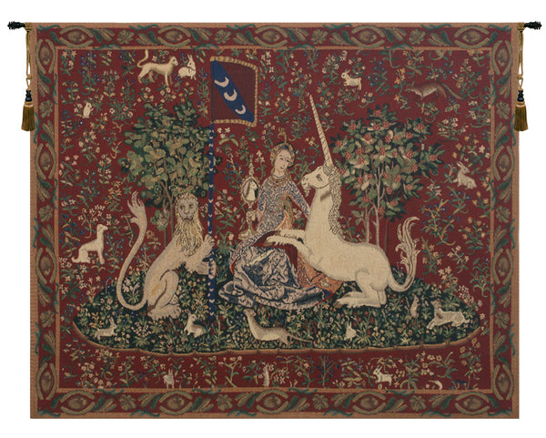 Lady and the Mirror (with Border) Belgian Tapestry