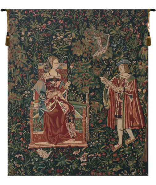 Reading in the Garden Belgian Tapestry
