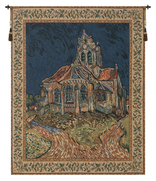 Church of Auvers Belgian Tapestry