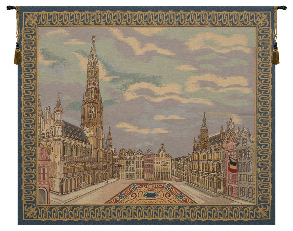 Brussels Place Belgian Tapestry