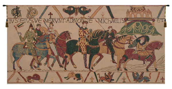 Bayeux, Mont St. Michel Belgian Tapestry