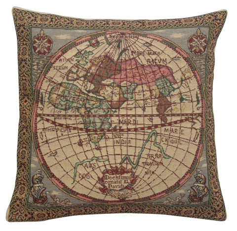 Map of the East Belgian Cushion Cover